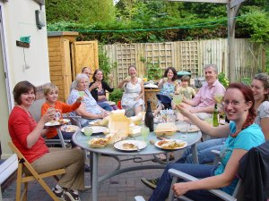 And (some of) the Fun Day team relaxed at the end of the day with Mokbal's fabulous curry and a well-earned glass of wine - or rwo . . .