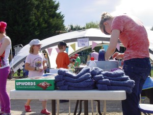 Kate's hats sold well even on such a glorious day