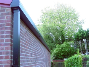 Guttering on new western extension