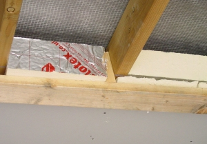 Insulation in lobby roof