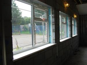 Window sills in main hall