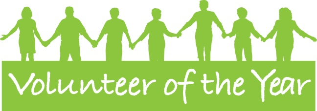 Volunteer of the year banner